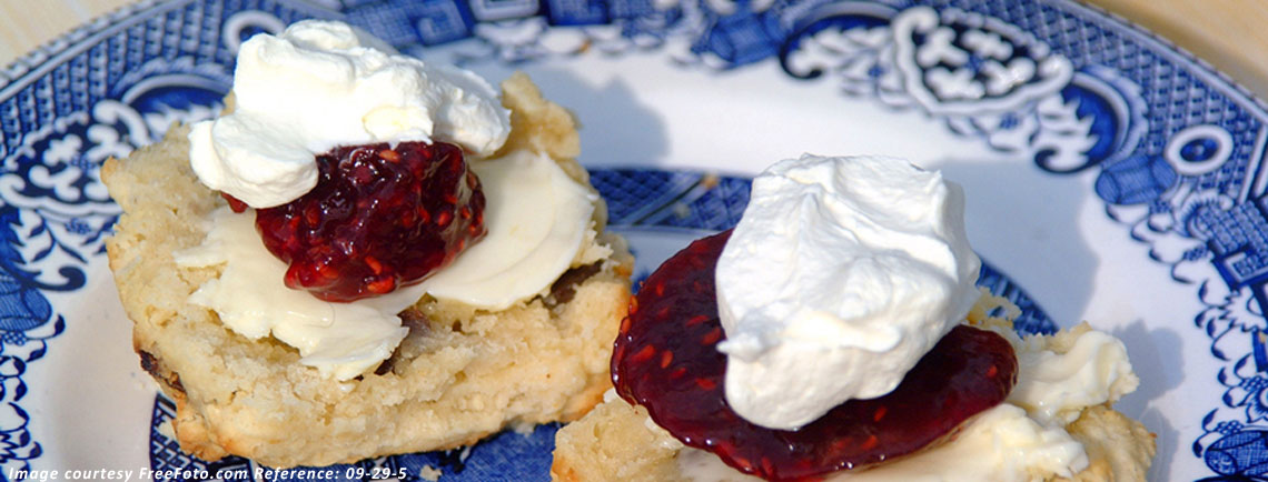 Men's Morning Group tradition of scones, jam & cream
