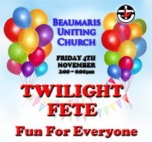 Beaumaris Uniting Church Twilight Fete Friday 4th November 3-8pm