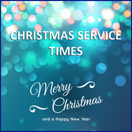 Christmas Service Times 2018