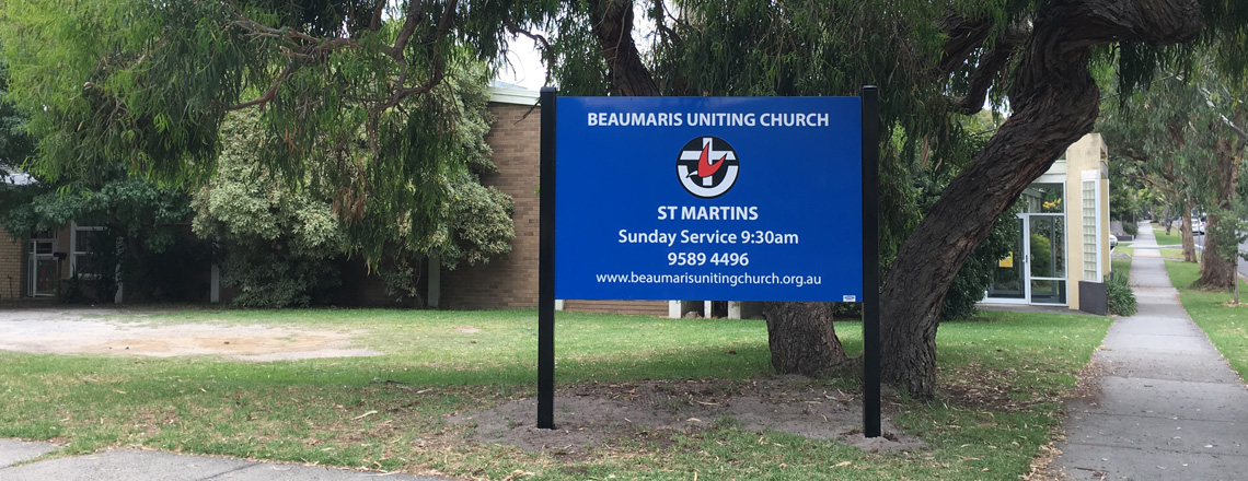 New signs at the church