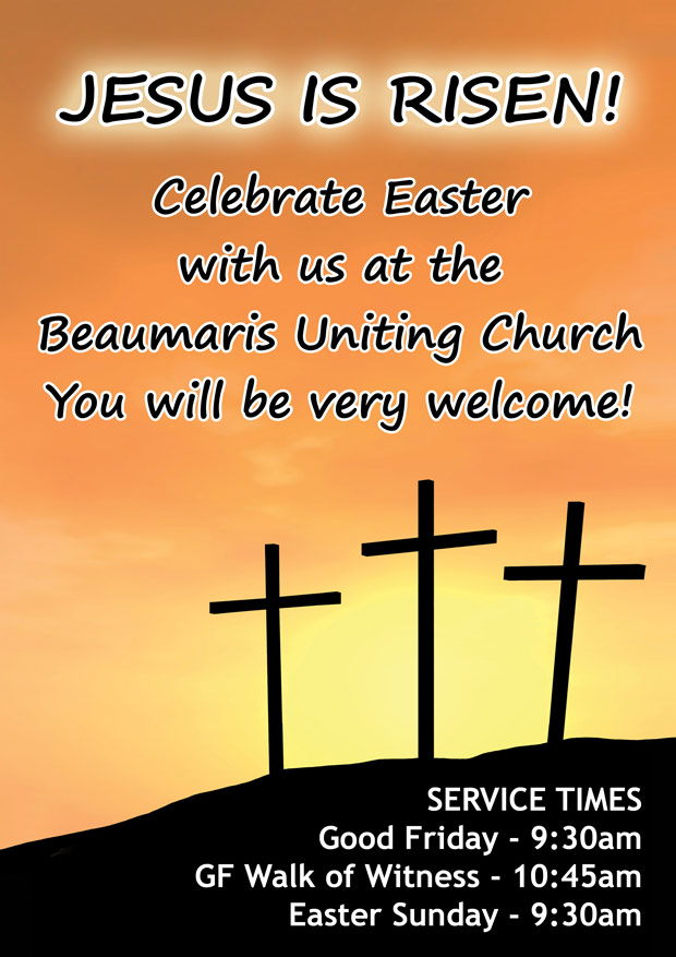 Easter Service Times at the Beaumaris Uniting Church