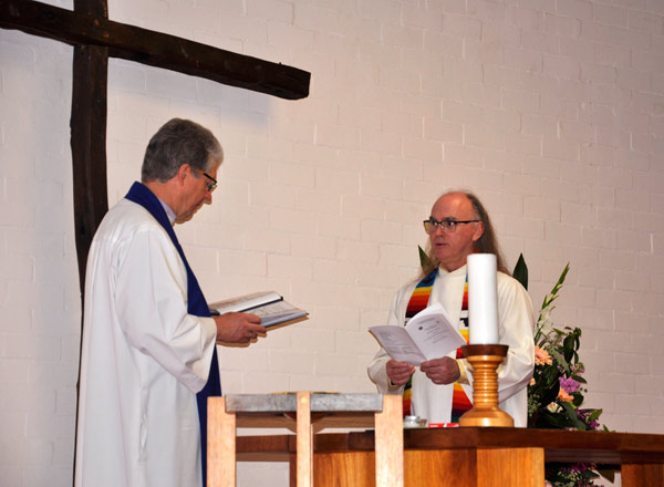 Rev. Scott Finlay being inducted by Rev. Andrew Boyle