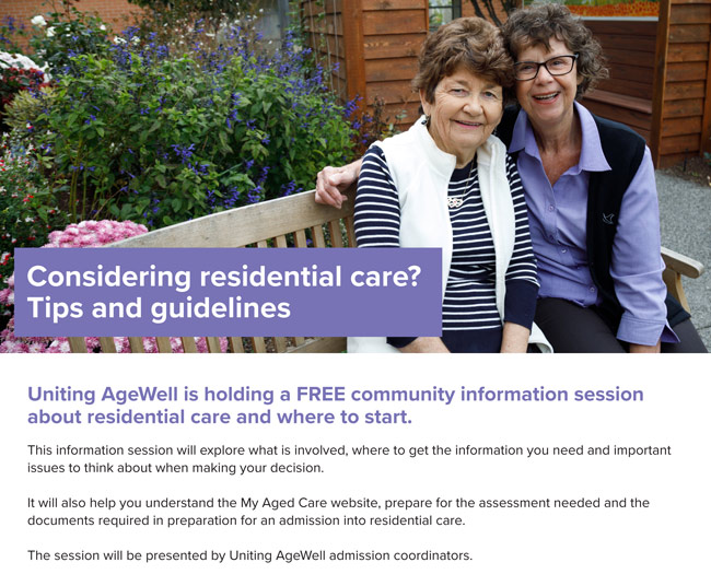 Uniting AgeWell Community Information Session