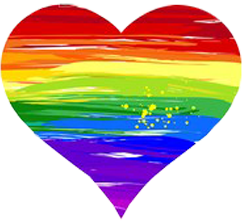 Rainbow heart in support of same gender marriage
