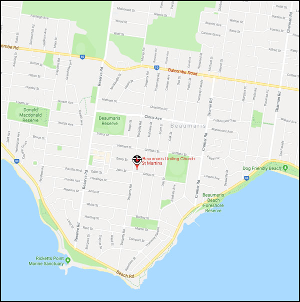 Location of Beaumaris Uniting Church