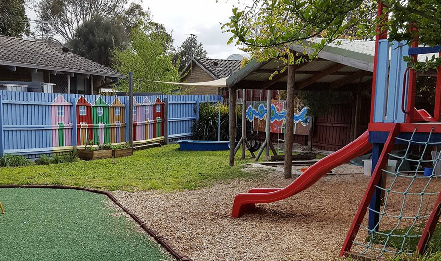 Outdoor playground area for St Martins Playgroup
