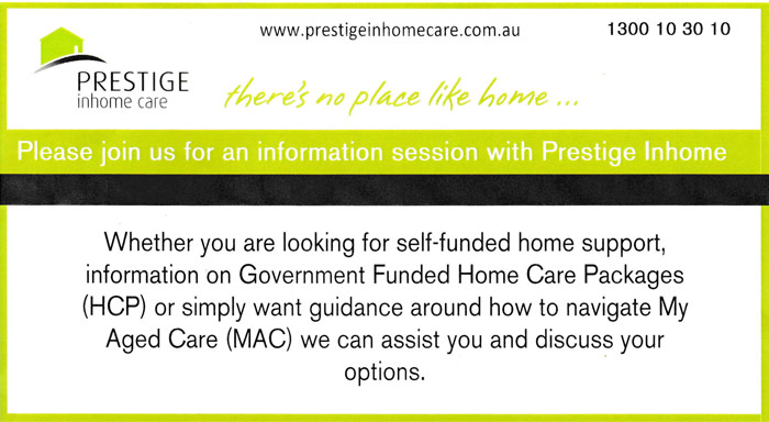 Prestige In-Home Care Information Session
