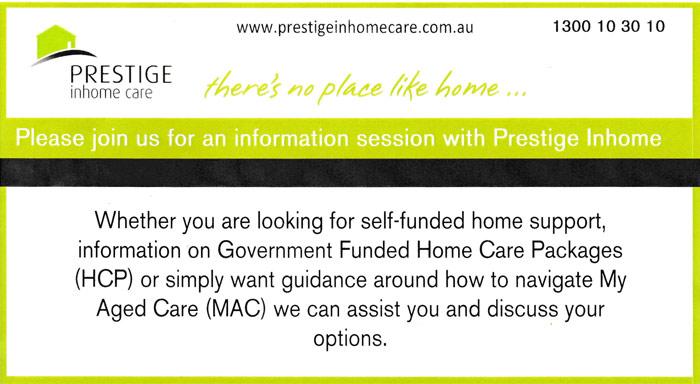 Prestige In-Home Care Information Session